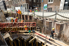 Vijzelgracht 7 mei-22 (Noord/Zuidlijn) Tags: amsterdam site construction transport transportation nz ingang noordzuidlijn vijzelgracht maisondescartes roltrappen nzlijn northsouthline bouwstation
