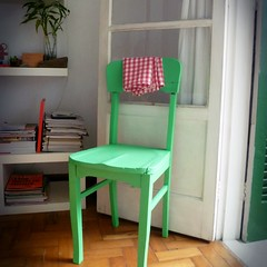 Cadeira verde (super_ziper) Tags: verde green home diy casa chair craft spray lar projeto madeira tutorial pap pintura movel cadeira abandonada salvar passoapasso superziper