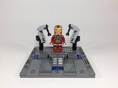 Iron Man: Suit up Gantry MK2 (Tr0jinH0rse) Tags: lego ironman vignette avengers tonystark heartbreaker ironman2 ironman3 uploaded:by=flickrmobile flickriosapp:filter=nofilter