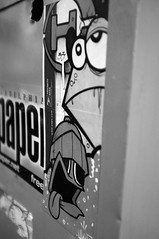 DASH x UWP x WTF (damonabnormal) Tags: street city urban blackandwhite bw streetart philadelphia graffiti sticker stickers may streetphotography urbanart pa dash philly wtf phl urbanite stickergraffiti uwp 2013 citysticker phillystreetart