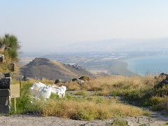 Looking south-west from Hippos (Ian W Scott) Tags: israel landscapes galilee seaofgalilee seasandlakes lakesandseas israelstudytour2011
