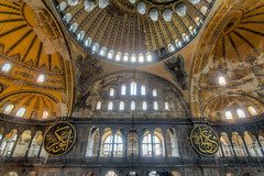 "Hagia Sophia (Herve ""Setaou"" BRY) Tags: people building church window architecture turkey construction couple cathedral istanbul mosque cathdrale turquie glise fentre hagiasophia personnes istambul personne hdr sultanahmet batiment mosque saintesophie ayasofya hagasopha"