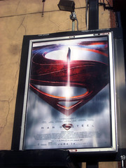 Man of Steel - New Superman Billboard theater Poster 0317 (Brechtbug) Tags: street new york city nyc blue red man work dark comics painting movie poster square book dc paint theater comic near steel character alien bat working broadway s superman billboard advertisement adventure hero superhero billboards knight worker shield times insignia krypton 46th 2013