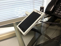 """Desktop Recumbent Office Phone (DROP) - 3D Printed HTC One X Stand <a style=""""margin-left:10px; font-size:0.8em;"""" href=""""http://www.flickr.com/photos/95290524@N03/8785735065/"""" target=""""_blank"""">@flickr</a>"""
