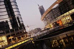 Piazza Gae Aulenti (fede_gen88) Tags: new milan lights nikon skyscrapers milano piazza garibaldi lombardia lombardy gaeaulenti d5100