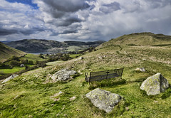 Howstead Brow (mjb868) Tags: mountains clouds walking landscape nationalpark scenery solitude lakes lakedistrict rocky trail cumbria fells mountaineering vista peaks 1001nights tarn rugged rambling moorland d7000 mjb868
