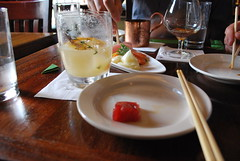 At Angel's Share (rocketlass) Tags: newyorkcity sashimi cocktails angelsshare