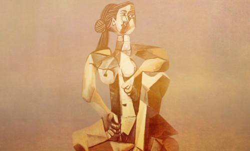 "Mujer Sentada, geometrización de Pablo Picasso (1953), abstracción de Roberto Real de León (2013). • <a style=""font-size:0.8em;"" href=""http://www.flickr.com/photos/30735181@N00/8805311571/"" target=""_blank"">View on Flickr</a>"