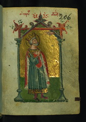 Book of Hours, King David Praying, Walters Manuscript W.534, fol. 206r (Walters Art Museum Illuminated Manuscripts) Tags: book miniature illumination christian greece devotion manuscript byzantine waltersartmuseum codex 15thcentury bookofhours horologion originalbinding