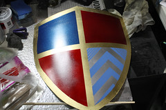 Shield WIP16 (Tsabo Tsaboc) Tags: knights impact cedric shield sir props hillsdale sculpting