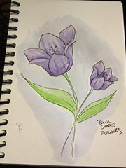 Going pretty much off Dion DIor's example (honeyandollie) Tags: flower watercolor botanical sketchbook sketchbookchallenge