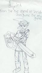Zelda (-Jeffrey-) Tags: game art pencil drawing matthew link sword videogame zelda legend