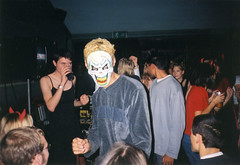 Halloween (Gary Kinsman) Tags: 2001 london film halloween students youth bar fun drag pub university dress mask young hampstead halloweenparty hallsofresidence nw3 kingscollegelondon kcl childshill studentcampus kidderporeavenue hampsteadstudentcampus hampsteadstudentbar hampsteadcampusbar