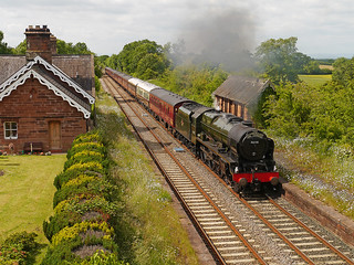 """LMS Royal Scot Class 4-6-0 No 46115 Scots Guardsman in charge of """"The Fellsman"""" at Cumwhinton on Settle Carlisle line 26th June 2013"""