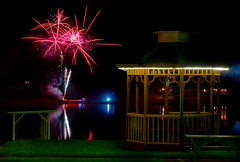 Fireworks over Lake Pearl (mwjw) Tags: mill night stream long exposure shot florida fireworks resort rv olde umatilla d7000
