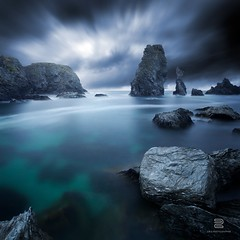 Turquoise II (S.D.G Photographie) Tags: ocean longexposure sea cloud seascape france nature dark french landscape brittany cloudy bretagne filter lee nuage francais sdg belleile nuageux belleileenmer drame dramatique bigstopper