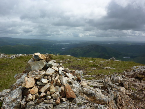 Cairn near the summit of Loft Crag