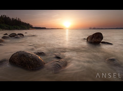 Inspiration (draken413o) Tags: sunset beach digital photography landscapes scenery singapore rocks seascapes punggol meaning blending waterscapes destinations