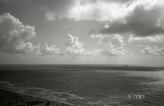 x-pan026 (masipah▲) Tags: ocean sky blackandwhite bw film beach monochrome clouds 35mm pentax florida zoom kodak miami plus expired xpan southbeach sobe 125 125iso 90wr