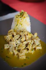 Peruvian Delight (MarcoIE) Tags: food cooking pepper cow dish rice papas tasty stomach cocina yerbabuena chily aji arroz peruvian mondongo caucau