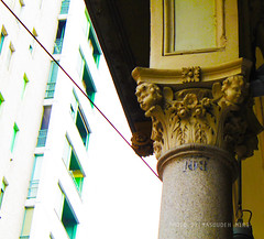 contrasto (Masoudeh Miri) Tags: italy abstract tower architecture modern canon torino italia torre traditional capital centro center piemonte grattacielo turin arco portico architectura astratta capitello tradizionale porticato viacernaia 2013 viapietromicca cernaiastreet pietromiccastreet