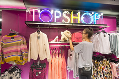 AFS-130207 (Alex Segre) Tags: uk england people woman london english fashion shop retail shopping person one store clothing women europe european adult britain interior womens clothes only shops british inside stores adults topshop retailer retailers alexsegre