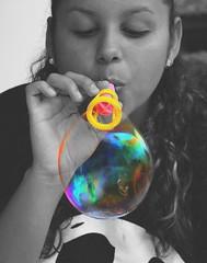 ~Jennir Narvez (TheJennire) Tags: cute colors girl face canon hair photography photo eyes flickr foto lips nails cheeks bubble fotografia burbuja edit bolha tumblr
