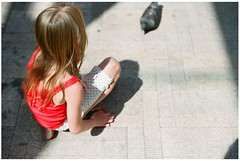 (marla.misclevitz) Tags: red summer color film girl canon portland 50mm pigeons sigma fuji400h