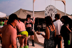 Burning Man works on a barter/exchange system. Here you see people trading a spank for a delicious cup of coffee. (dylanavery1983) Tags: man coffee playa burningman blackrockcity burning burn starbucks brc theburn 2013 burningman2013 scarbutts