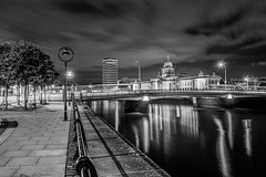 Dublin by Night - The Custom House (gabor images) Tags: ireland bw dublin riverliffey dublinbynight longexposurephotography longexposureshot thecustomhouse fujixpro1 fuji18mmf20 gaborimagescom gabornagyphotography gaborimages