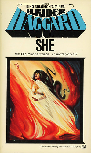 does h rider haggard's novel she Buy she (oxford world's classics) by h rider haggard, daniel karlin from  it is  a romantic adventure, typical of the lost civilisation/lost city novels that were so.
