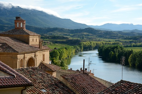The Cantabrian mountains, Ebro River and Rioja's vineyards