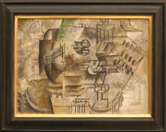 Pablo Picasso (1881-1973), Mandolin and Glass of Pernod, 1911, oil on canvas (Sergei P. Zubkov) Tags: november art painting prague praha fair palace picasso trade cubism 2011 veletrzn
