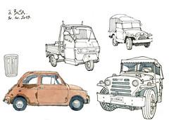 Bosa, autos (gerard michel) Tags: auto sketch italia fiat croquis