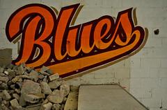 BLUES (Di's Free Range Fotos) Tags: graffiti blues artillery gary msk ha heavy
