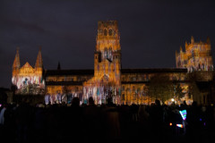Crown of Light (Icy Sedgwick) Tags: street night lights durham lumiere 1855mm durhamcathedral canon400d crownoflight