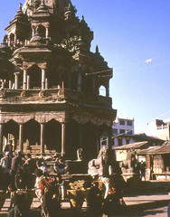 Patan, Nepal, 1972 (east med wanderer) Tags: nepal temple krishna hinduism patan kathmanduvalley durbarsquare theindiatree