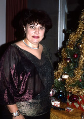 Christmas glitter, 1987 (clarkfred33) Tags: christmas winter holiday glitter dress 1987 jewelry christmastree sparkle holidayspirit classylady flashphoto holidayclothes classydress classyclothes