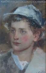 Eugenio Prati Giovane pastore olio su tela 37 x 24 cm Collezione privata