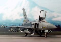 "1:72 Northrop Grumman-IAI F-24A ""Tigerhawk"" (a.k.a. ""נמר / Namer""), s/n 14-0183 of 318th FIS, United States Air force (USAF); McChord AFB, Tacoma / WA; 2014 (whif/kitbashing/tribute work) (dizzyfugu) Tags: grey freedom washington fighter technology force iai aircraft aviation air united gray wing replacement next f16 tacoma states usaf generation active 172 interceptor export fictional whatif grumman f24 northrop x29 f20 iaf namer x53 whif kitbashing tigerii f24a f24i"