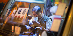 Dinner (Wim Storme) Tags: bus night hongkong lowlight candid cinematic