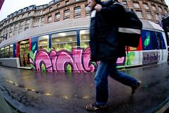 LE CONDUCTEUR DU TRAIN RENTRE CHEZ LUI (nARCOTO) Tags: paris graffiti gare saintlazare graff sncf graffitis transilien