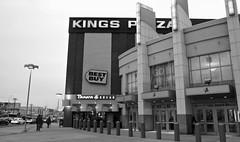 kings plaza (Robert S. Photography) Tags: street people bw signs brooklyn mall walking outside lights canonpowershot kingsplaza