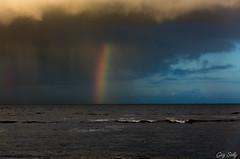 Aprs l'averse au petit jour (luciole17) Tags: mer canon ciel cote nuage plage arcenciel matin averse 5dmark3 chtlaillon