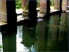 Montmotier, lavoir XIXs.  (srie) (Claudie K) Tags: fontaine reflets grs lavoir p1190367 vge montmotier