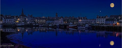 Stornoway Harbour Evening (Impact Imagz) Tags: moon reflection reflections boats fishing harbour fullmoon moonlight isleoflewis hebrides fishingfleet stornoway outerhebrides stornowayharbour