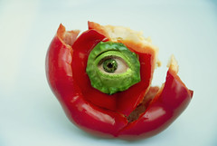 eye2r (fojocili) Tags: red food abstract color eye photomanipulation pepper vegetable editing modification {vision}:{outdoor}=0742 {vision}:{food}=0583