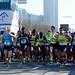 De start van de halve marathon