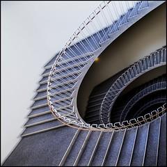 Around the corner (Maerten Prins) Tags: light stairs copenhagen spiral denmark curves staircase railing kopenhagen balustrade denemarken downshot explored gyldenlovesgade15