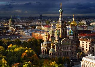 【焦点大图】圣彼得堡鸟瞰